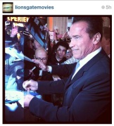 THE Arnold @Schwarzenegger has arrived!