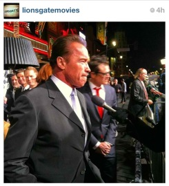 Arnold @Schwarzenegger entralls reporters with production tales from #TheLastStand