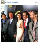 The crew ASSEMBLED - #TheLastStand cast at the World Premiere in Hollywood, CA