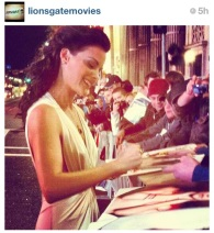 The stunning @jaimiealexander spends quality time with her fans at #TheLastStand Premiere!