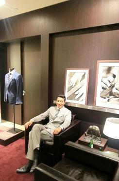 Daniel at the Sydney Zegna Store for an interview. (Photo: @Zegna_Korea)