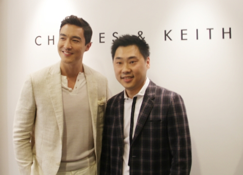 Daniel Henney & Charles Wong (co-founder of Charles & Keith) | Photo: herworldplus | Aug 23 2013 | Ngee Ann City, Singapore