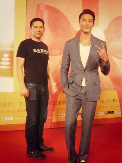 Director Daniel Hsia and Daniel | Photo: Daniel Henney's Facebook